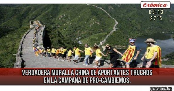 Placas Rojas - Verdadera Muralla China de Aportantes truchos en la Campaña de PRO-Cambiemos.