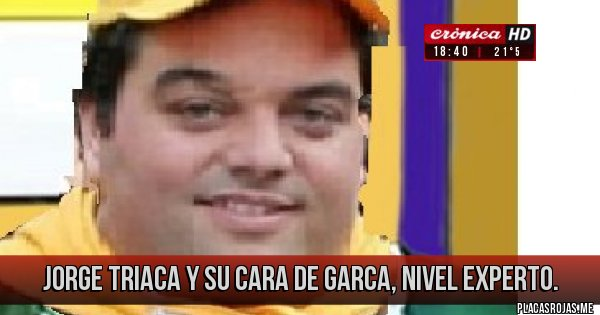 Placas Rojas - Jorge Triaca y su cara de garca, nivel experto.