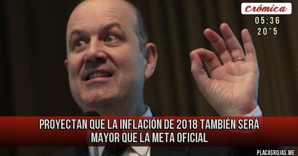 Placas Rojas - Proyectan que la inflación de 2018 también será mayor que la meta oficial