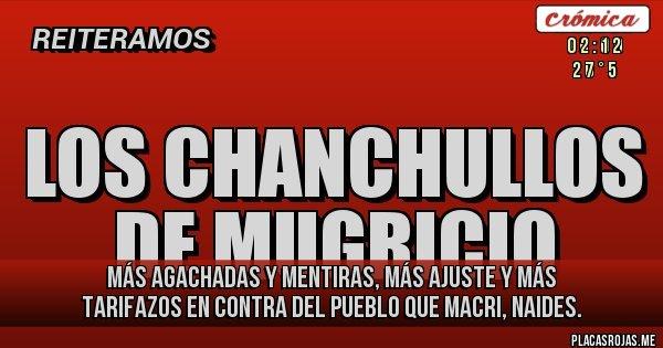 Placas Rojas - más agachadas y mentiras, más ajuste y más tarifazos en contra del pueblo que macri, naides.