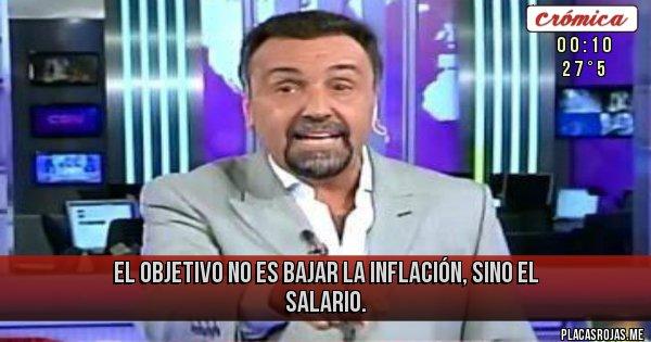 Placas Rojas - EL OBJETIVO NO ES BAJAR LA INFLACIÓN, SINO EL SALARIO.