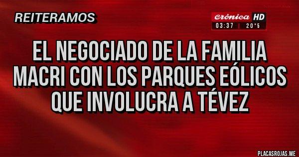 Placas Rojas - EL NEGOCIADO DE LA FAMILIA MACRI CON LOS PARQUES EÓLICOS QUE INVOLUCRA A TÉVEZ