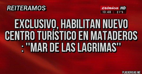 Placas Rojas - Exclusivo, habilitan nuevo centro turístico en Mataderos : ''MAR DE LAS LAGRIMAS''