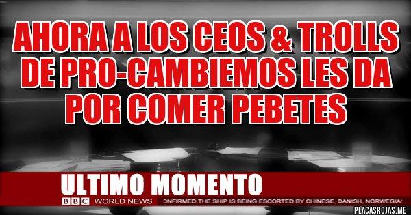 Placas Rojas - Ahora a los CEOS & TROLLS de Pro-Cambiemos les da por comer pebetes