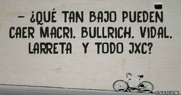Placas Rojas - - ¿Qué tan bajo pueden caer Macri, Bullrich, Vidal, Larreta  y todo JxC?