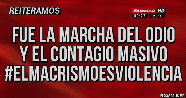 Placas Rojas - Fue la marcha del odio y el contagio masivo #ElMacrismoEsViolencia