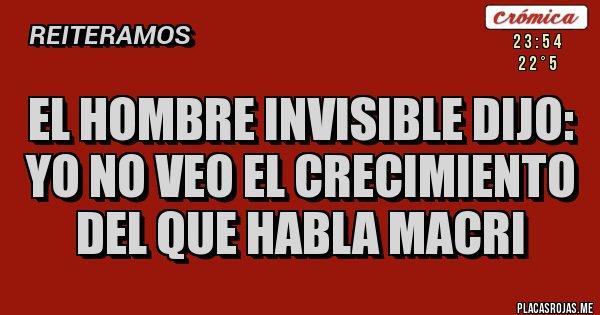 Placas Rojas - El hombre invisible dijo: Yo no veo el crecimiento del que habla Macri