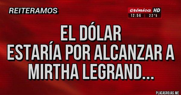 Placas Rojas - El dólar estaría por alcanzar a Mirtha Legrand...