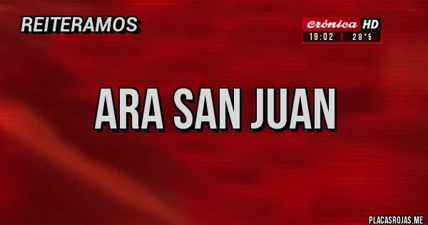 Placas Rojas - ARA SAN JUAN