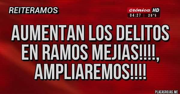 Placas Rojas - Aumentan los delitos en Ramos Mejias!!!!, ampliaremos!!!!